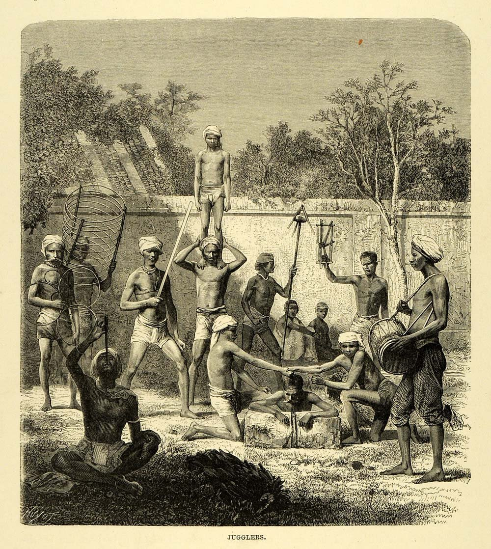 Sword Swallowers Association International Ssai Big Tex Trailer Wiring Schematic Indian Swallower Engraving 1878